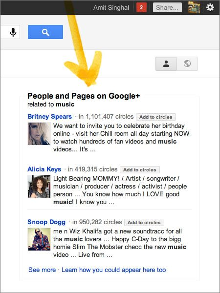 People and Pages Google
