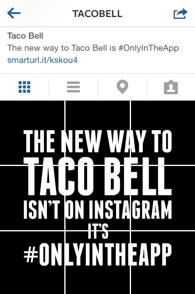 Taco Bell Black Out Instagram