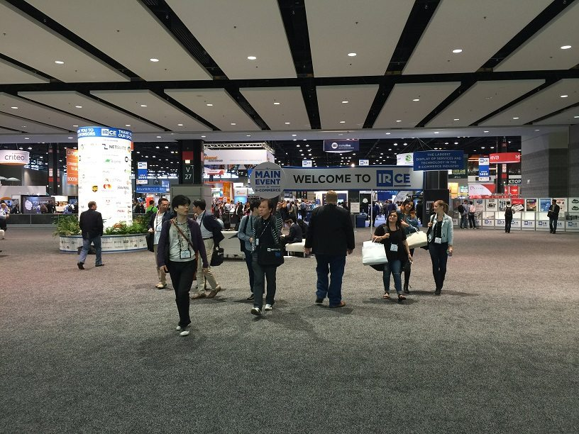 A wide photo showcasing the massive show floor  at IRCE Chicago.
