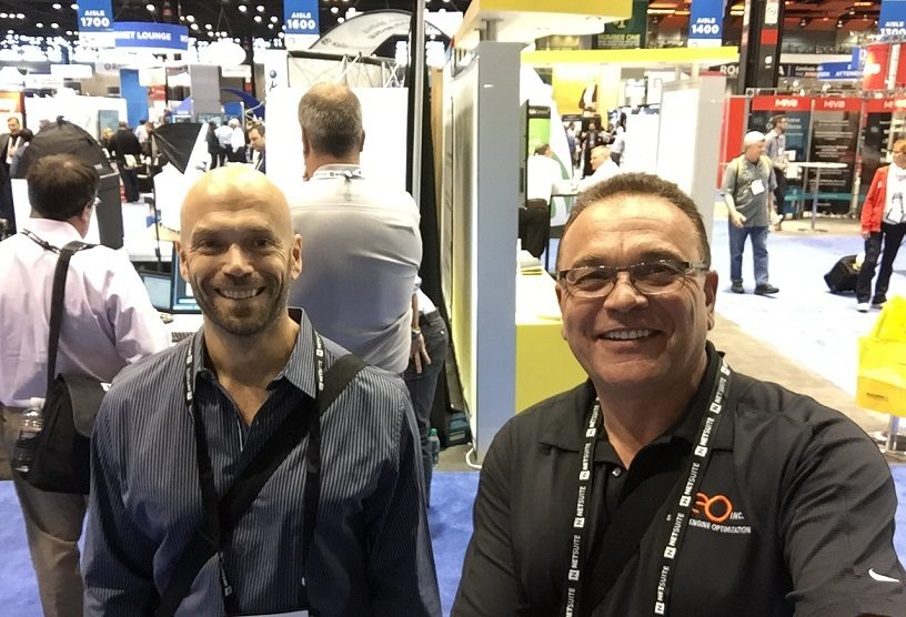 SEO Inc.'s Garry Grant and Arnaud Lemaire smiling.