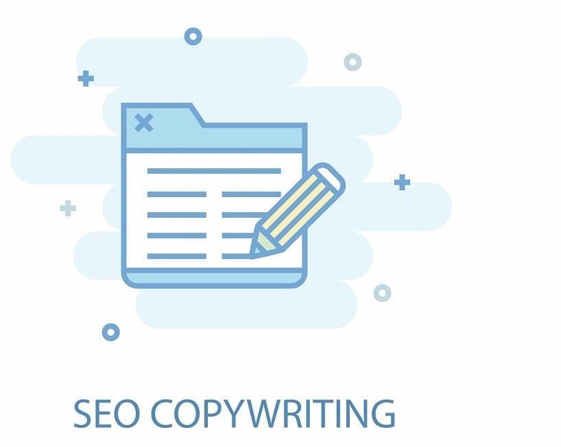 icon of pencil to paper seo copywriting
